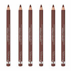 (6 Pack) NEW Rimmel 1000 Kisses Stay On Lip Liner ,Coffee Bean, 0.04 Ounces