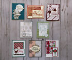 8 Christmas Holiday Winter handmade greeting cards envelopes Stampin Up more