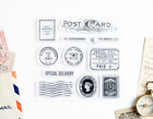 Postcard and Parcel Love Clear Rubber Stamps 4x4 inch Photopolymer Scrapbooking