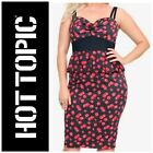 NWT Hot Topic Vintage Style Dress Pinup Rockabilly Swing DICE PRINT Peplum