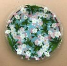 Peggy Karr Fused Art Glass Cherry Blossoms 11 Plate EUC