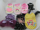 NEW Dog Clothes Girl Dog X Small 7 Pieces Fleece Hoodies Top Dresses X Small