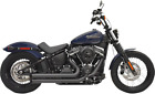 Bassani Black Turn Out Pro Street Exhaust for 18 19 Harley Softail FXBB FXLR