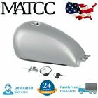 Sliver Motorcycle 9L 2.4 Gal Fuel Gas Tank Kit For Suzuki GN125 GN250 Cafe Racer