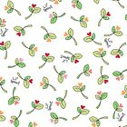 Fabric Lil Sprouts Rosebuds Pink on White Flannel by the 1 4 yard