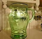 Federal Glass  green     75 ounce  Patrician  Spoke  PITCHER with APPLIED HANDLE