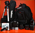Canon EOS 7D II DSLR Camera + 18-55mm Zoom Lens kit + Battery,Charger, Grip, Bag