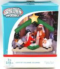 New Gemmy Christmas Airblown Inflatable 7 Manger Nativity Scene