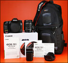 Canon EOS 70D DSLR Camera + 18-55mm Zoom Lens kit + Battery, Charger 1,860 Shots