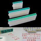 1 Set English Alphabet Letters Numbers Rubber Stamp Free Combination Diy CraftUS