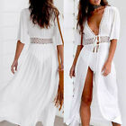Womens Swimwear Scarf Beach Cover Up Wrap Sarong Lace Long Maxi Dress Plus Size