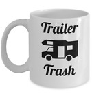 Camping mug Trailer Trash Funny caravan campers RV cup gift for husband wife