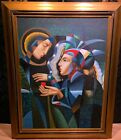 Oil on Canvas Painting In a manner of Oleg ZHIVETIN TENDER HEART