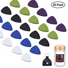 YoungRich 25PCS Felt Picks Ukulele Picks Plectrums with Solid Leather Plectrum