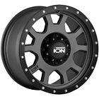 4 Ion 135 18x9 8x65 +0mm Gunmetal Black Wheels Rims 18 Inch