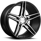 4 Niche M169 Turin 19x85 5x45 +45mm Black Brushed Wheels Rims 19 Inch