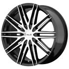 4 Helo HE880 17x75 5x110 5x45 +42mm Black Machined Wheels Rims 17 Inch