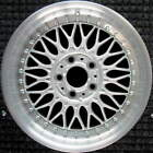 BMW 525i Machined Lip w Silver Spokes 17 inch OEM Wheel 1997 2003