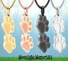 New Paw Print Dog Cat Pet Urn Cremation Pendant Ashes Memorial Necklace