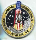 STS 44 SPACE SHUTTLE ATLANTIS SILVER PIPING 425 INCH PATCH