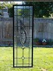 Vintage Beveled Glass Window Panel 36x11 very strong with zinc construction