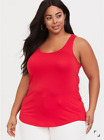 TORRID RUBY RED SUPER SOFT FITTED LAYERING TANK TOP SHIRT SIZE 2 2X 18 20 NWT