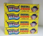 1988 LEAF 4 BOX LOT BASEBALL AWESOME ALL STARS COLLECTIBLE TRADING CARDS BOX