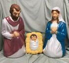 27 Mary Joseph Jesus Nativity Blow Mold Lighted Plastic Yard Decor Vintage