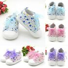 Newborn Infant Baby Girl Soft Sole Crib Shoes Non slip Cute Floral Sneaker Shoes