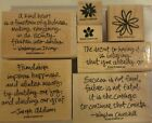 Stampin Up Friendship Flowers 2008 Gently Used 6 piece Stamp Set