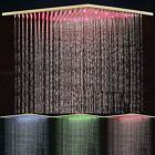 Chrome 12 Shower Head with LED Ceiling Wall Mount Rain Water Pattern
