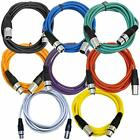 SAXLX 10 Multi 8 Pack Of Colored Foot XLR Patch Cables 1039 Mic Cords Musical