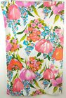 Vtg 70s Cannon Monticello Pillowcase Tulips Poppies Pink Coral Flower Power Std