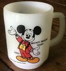 ANCHOR HOCKING Fire King VINTAGE MICKEY MOUSE MILK GLASS COFFEE MUG PEPSI 1980