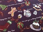 Trains Trees ALEX HENRY 1996 Horse Gingerbread Kite Christmas Cotton Fabric