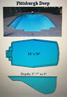 Inground Fiberglass Swimming Pool 16 X 36