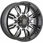 4 20x9 Black Machined Wheel Panther Offroad 580 6x135 6x55 12
