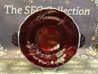 Meriden Silver Glass Company 40th Anniversary Ruby Red Cake Plate Vintage EUC