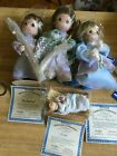 Precious Moments Holy Family Nativity Mary Joseph Jesus Shepherd 4 Dolls COAs 10