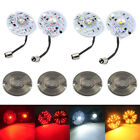 3 Yellow White Red 1157 LED Turn Signal Tail Lights Smoke Lens Fit For Harley