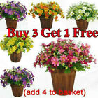 28Heads Artificial Garden Daisy Flower Fake Silk Flowers Bunch Outdoor DIY Decor