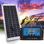 Portable 20W Solar Panel 18V Battery Charger For RV Car Boat Home Camping Tent