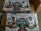 2019 Topps Tribute 2 box HOBBY lot - 2 dent free boxes, 3 AUTOS and 3 MEMOR. box