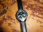 FESTINA MECAQUARTZ SS CASE BLUE DIAL NEW CAPACITOR KIT BLK LEATHER BAND RUNNING