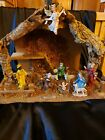 Vintage nativity scene wood