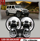 4PCS 760W Chrome LED Headlights+430WFogLights Fit 2007 2017 Jeep Wrangler JK