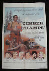 TIMBER TRAMPS movie poster CLAUDE AKINS ROSIE GRIER Original 1975 One sheet