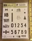 Stampin Up BIRTHDAY YAY Clear Photopolymer Stamp Set Party Hat Candle JG
