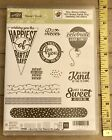 Stampin Up SWEET STACK Clear Photopolymer Stamp Set Birthday Balloon Treat JG