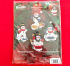 NEW Bucilla WINTER FUN SNOWMEN Felt Christmas Ornaments Kit 84973 Sealed